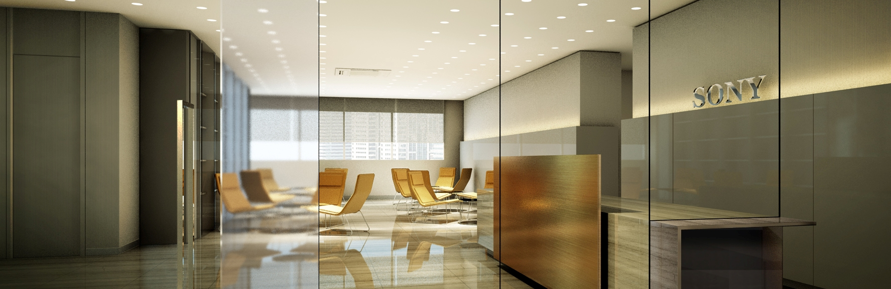 Corporate office background the image for Modern office reception backdrop design